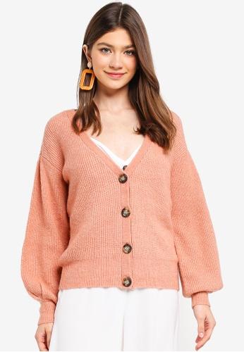 Pieces red Tessa LS Wool Cardigan 9E0E8AA82DE538GS_1
