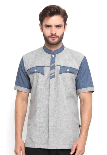 Java Seven Muslimwear grey Scandavia A1CE8AA17B025CGS_1
