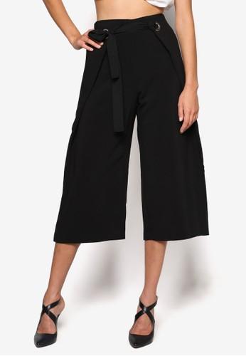繫esprit暢貨中心帶裹飾七分寬褲, 服飾, 長褲及內搭褲