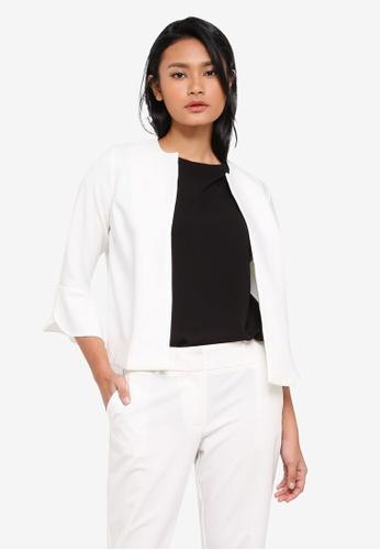 Dorothy Perkins white Petite Ivory Sleeve Jacket F506EAA15E60E8GS_1