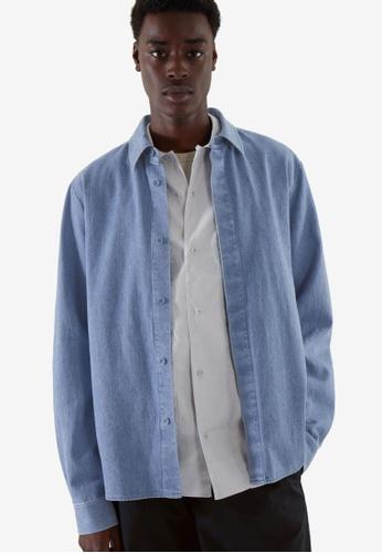 Cos blue Regular-Fit Hemp Overshirt 6D5D5AAB4C2831GS_1