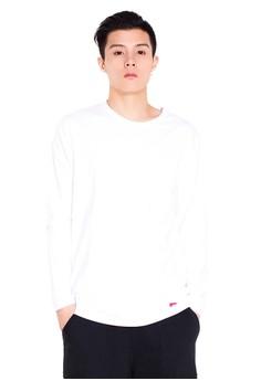 Reoparudo-兩件裝 RPD品牌純色長袖T恤(白色)