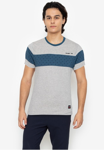 Ego multi Round Neck Streaky Short Sleeves CD656AA107D473GS_1