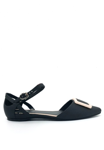 Twenty Eight Shoes black Jelly Ankle Strap Ballet Flats 513-1 BCCEESH2F12091GS_1
