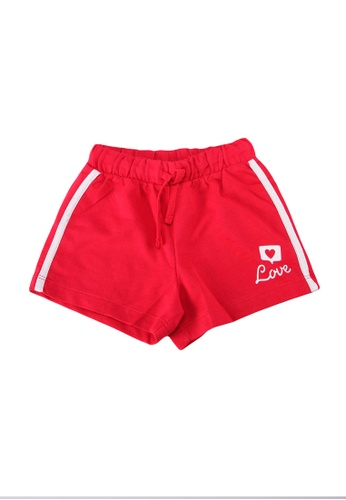 OVS red Cotton Shorts With Drawstring And Print A2950KA973F060GS_1