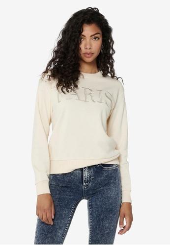JACQUELINE DE YONG beige Paris Life Sweater 7652CAA1039F74GS_1