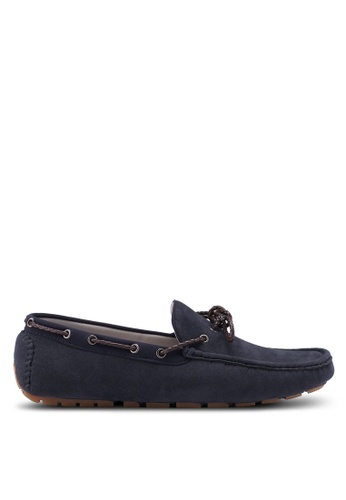 Burton Menswear London navy Navy Suede Look Driving Loafers A606ESH8FCCDFBGS_1