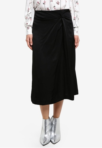 Mango black Decorative Knot Skirt MA193AA0S6J4MY_1