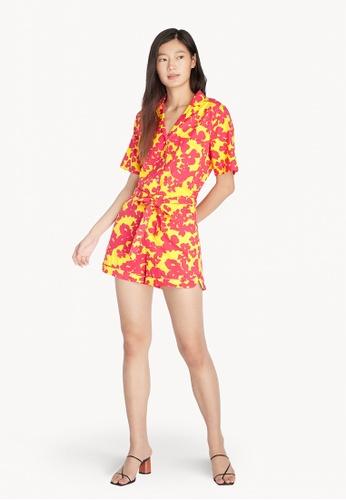 Pomelo yellow Purpose Floral High Waist Shorts - Yellow 1D93CAA1D2B547GS_1
