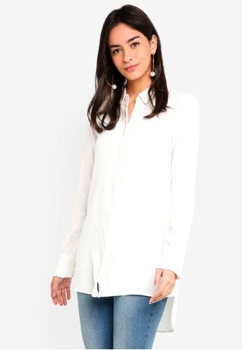 Vero Moda white Astrid Long Shirt DE2E8AAADA26DFGS_1