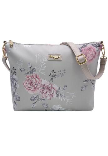 STRAWBERRY QUEEN grey Strawberry Queen Flamingo Sling Bag (Floral AL, Grey) 6D6B2AC1C3CF2EGS_1