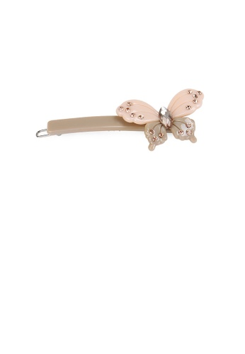 Glamorousky gold Fashion and Elegant Butterfly Gray Hair Clip with Cubic Zirconia 8ECFAACA25CCBDGS_1