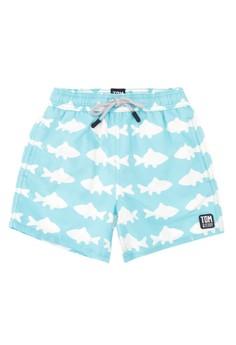 Fish Print Shorts