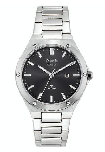 Alexandre Christie silver Alexandre Christie Jam Tangan Pria - Silver White - Stainless Steel - 8562 MDBSSBA 08CC1ACE615BB1GS_1