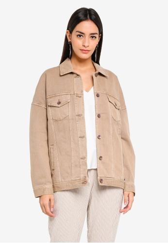Vero Moda beige Olivia Oversized Jacket DE265AAE3683FCGS_1