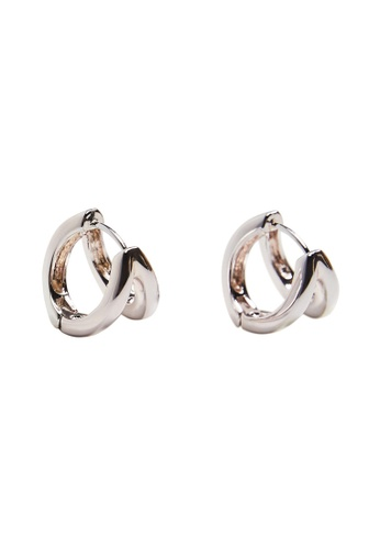 Mango silver Twisted Hoop Earrings 77E80ACA91AED7GS_1