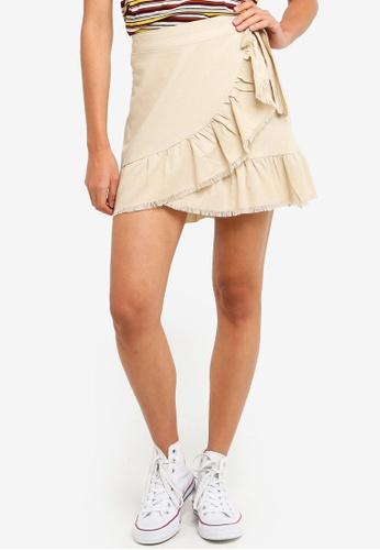 Cotton On brown Woven Tessa Wrap Skirt 33A30AA5598979GS_1
