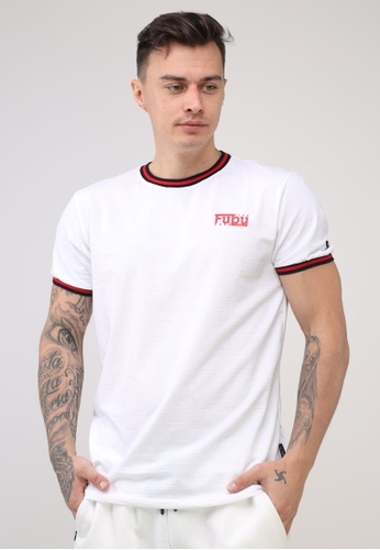 Fubu Boys white Round Neck Muscle Fit T-Shirt BE750AA59853B6GS_1