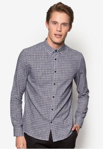 格紋長袖襯衫, 服esprit outlet 桃園飾, 服飾