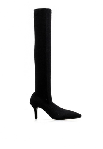 Twenty Eight Shoes black Socking Supper Skinny Over Knee Heel Boot 2268 EEF6CSH8939EFBGS_1