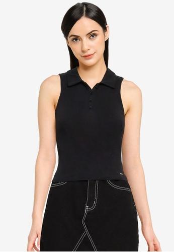 Hollister black Bare Polo Shirt 6B2B6AA2BF5D3FGS_1