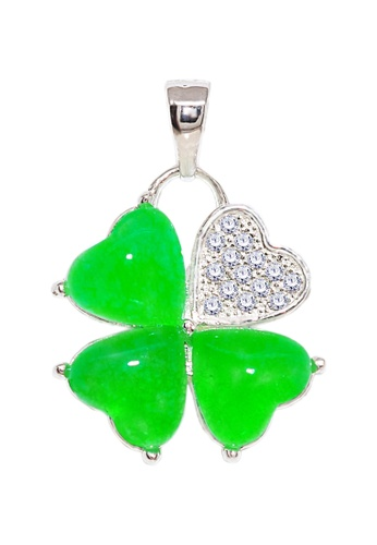 SC Tom Silver silver Heart Pendant with Jade Stone-SP481 SC872AC56WSHPH_1