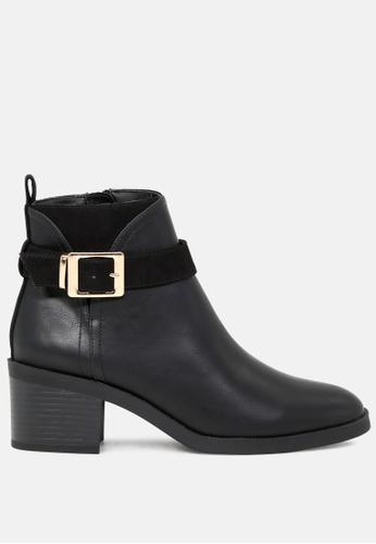 London Rag 黑色 可调扣高跟靴 SH1776 18AA0SH7740165GS_1
