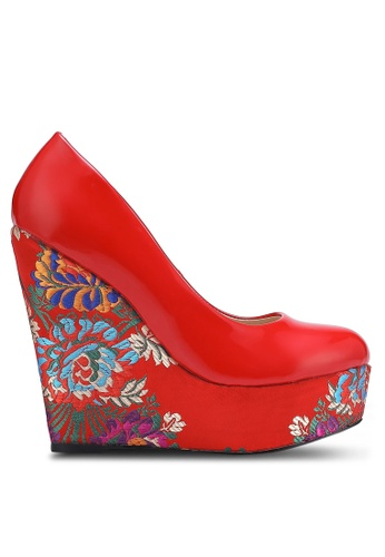 Nose red Patent Shanghai Wedge Pumps NO327SH0RC8TMY_1