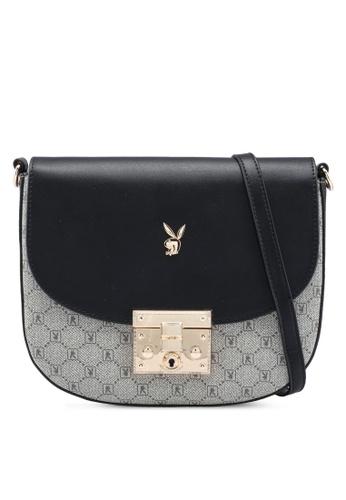 PLAYBOY BUNNY black Ladies Sling Bag 23E82AC353ECABGS_1