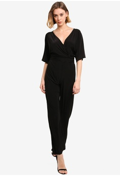 ac401db93938 20% OFF Boohoo Petite Wrap Front Wide Leg Jumpsuit HK$ 219.00 NOW HK$  174.90 Sizes 6 8 10 12