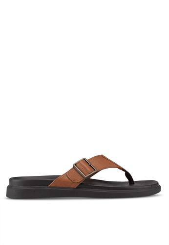 Call It Spring brown Larurwen Flat Sandals D73F5SHC19C7E9GS_1