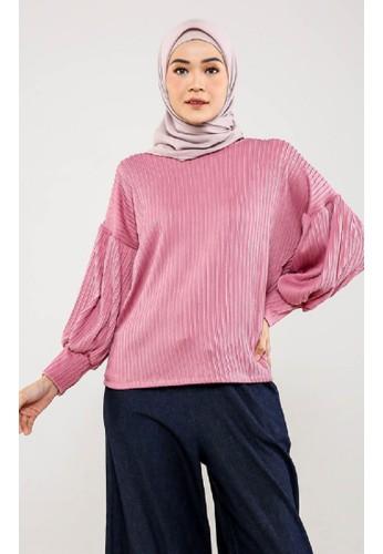 ZAHRA SIGNATURE pink Blouse Puffy Plisket FD3EEAA71CA702GS_1