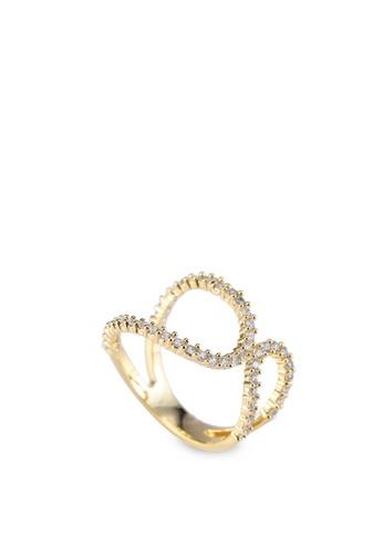 Buy Wanderlust Co Crystal Wrap Around Gold Ring line on ZALORA