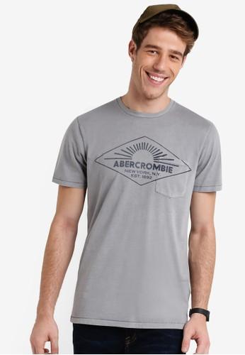A&amesprit 會員p;F 品牌文字圓領TEE, 服飾, 服飾