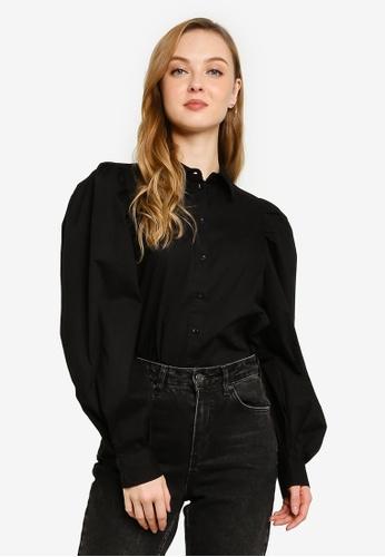 Vero Moda black Avery Long Sleeve Shirt 2C368AA388F903GS_1