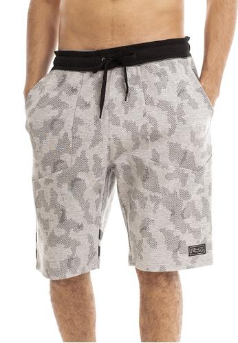 RYZ grey RYZ Cameo Print Grey Mobility Shorts. DE989AADE8336CGS_1
