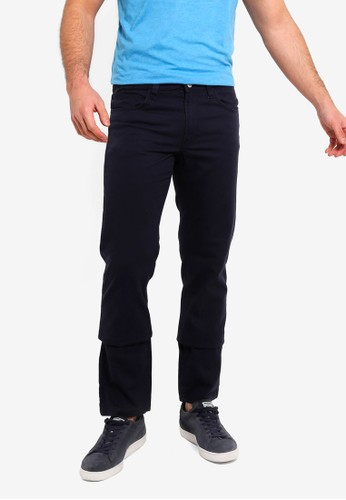 OVS blue and navy Casual Regular 5 Pocket Trousers 6C321AAB5B45D9GS_1