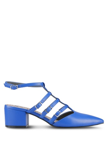 House of Avenues blue Strappy Pointed Heels HO685SH0RRASMY_1