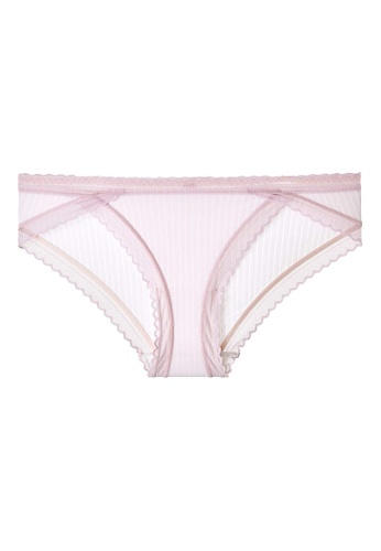 6IXTY8IGHT purple GEORGE AOP, Modal Stripe Hipster Panty PT10465 5974BUS92BCA3AGS_1