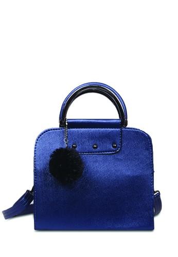 Quincy Label navy Quincy Label - Tas Handbag Laure Free Pom-pom - Navy 91353AC54E02FCGS_1