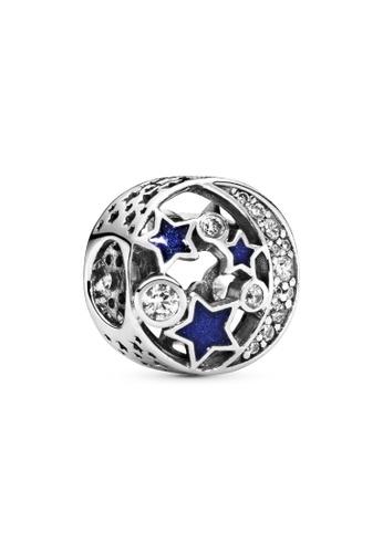 PANDORA silver Pandora Sparkling Night Sky Charm 9C88DAC8246EF8GS_1