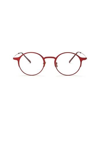 Kyfer's Eyewear & Essentials red Vintage Metal Round Glasses KY376AC86JORSG_1