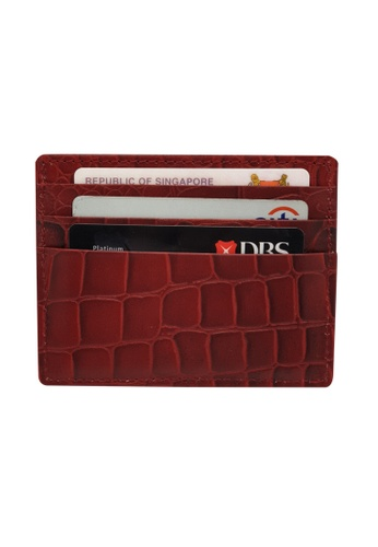 Oxhide red Leather Card Holder with Money -Leather Card Case - Oxhide AS2 Cherry Red 68E34AC1475504GS_1
