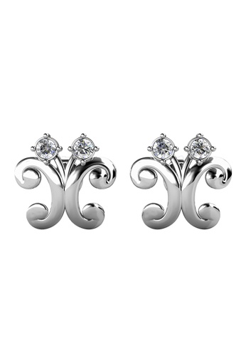 Her Jewellery silver Dragonfly Earrings (White Gold) - Made with Premium grade crystals from Austria 969E6AC70183ABGS_1