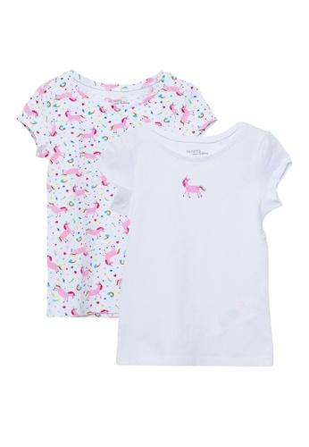 Du Pareil Au Même (DPAM) white Unicorn Undershirt 2 Pack 4A1E6KAD2B4D7FGS_1