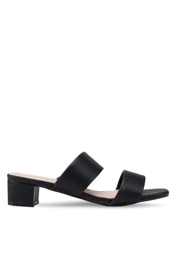 acc3bd8eabd Buy Nose Double Strap Block Heel Slides Online on ZALORA Singapore