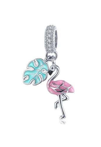 925 Signature 925 SIGNATURE Solid 925 Sterling Silver Flamingo Animal Pandora Inspired Charm C972EAC79AAE98GS_1