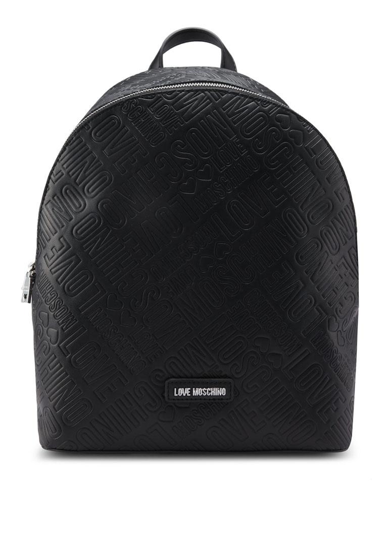d78cf78c469 Black Embossed Moschino Black Love Borsa Backpack Friday 4pqawfxfI ...