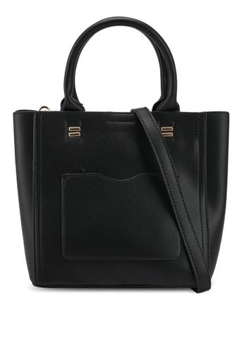 Unisa black Textured Multi-Compartment Top Handle Bag 7EA7BAC9F66E06GS_1
