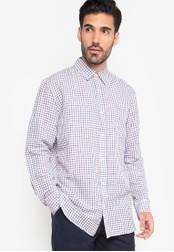 Joe Fresh blue Checkered Long Sleeve Shirt JO088AA88TDRPH_1